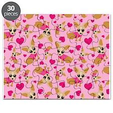 Chihuahua Heart Pattern Puzzle