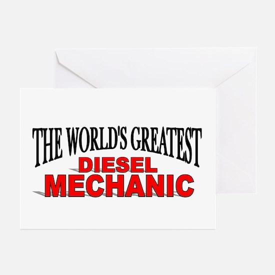 """The World's Greatest Diesel Mechanic"" Greeting Ca"