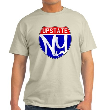 Upstate NY Blue/Red on White (Premium T-Shirt) T-S