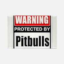 Warning Pitbulls Magnets