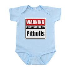 Warning Pitbulls Body Suit