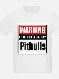 Warning Pitbulls T-Shirt