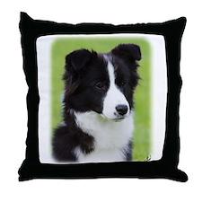 Border Collie Puppy AF205D-114 Throw Pillow