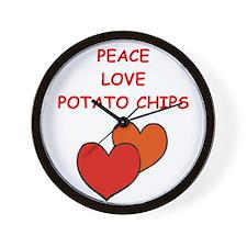 potato chips Wall Clock