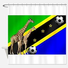 Tanzania Football Flag Shower Curtain