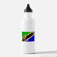 Tanzania Football Flag Water Bottle