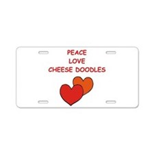 cheese doodle Aluminum License Plate