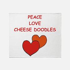 cheese doodle Throw Blanket