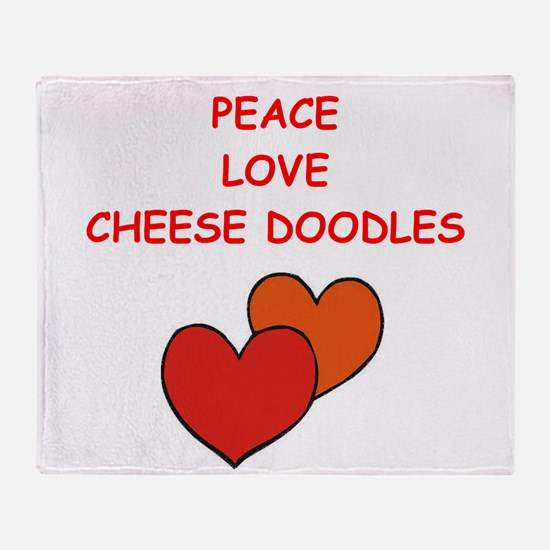 cheese doodle Throw Blanket