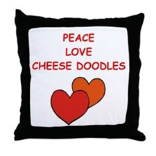 cheese doodle Throw Pillow