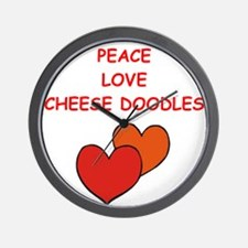 cheese doodle Wall Clock