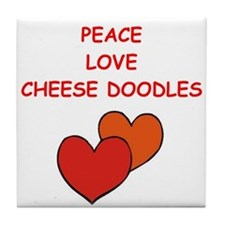 Cheese Doodle Tile Coaster