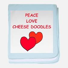 cheese doodle baby blanket
