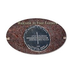 Welcome to Four Corners Monu 35x21 Oval Wall Decal