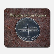Welcome to Four Corners Monument USA Mousepad
