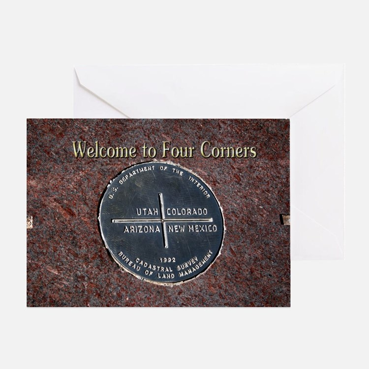 Welcome to Four Corners Monument USA Greeting Card