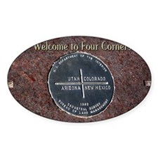 Welcome to Four Corners Monument US Decal
