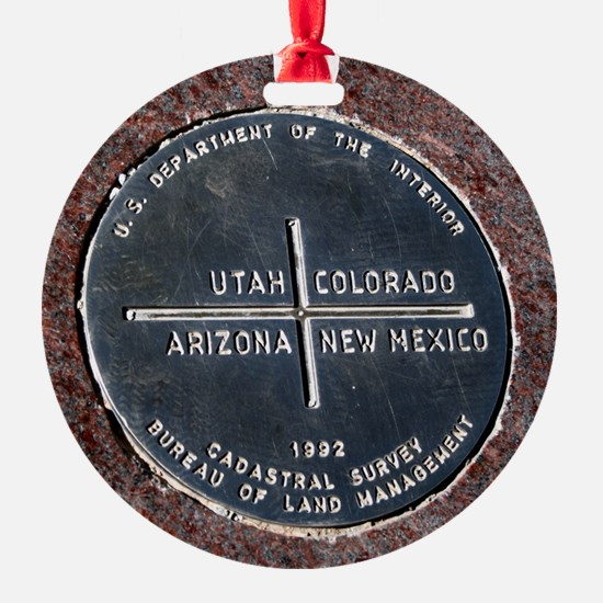 Four Corners USA Geographical Marke Ornament