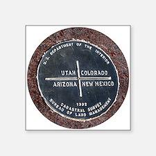 "Four Corners USA Geographic Square Sticker 3"" x 3"""
