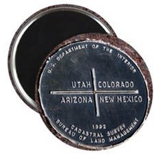 Four Corners USA Geographical Marker Magnet