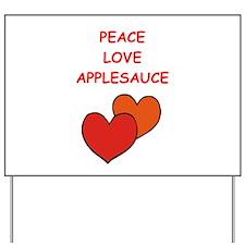applesauce Yard Sign