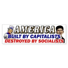 Destroyed By Socialists! Bumper Sticker