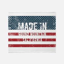Made in Round Mountain, California Throw Blanket