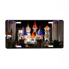 Excalibur Casino at Night i Aluminum License Plate