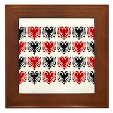 Albanian Eagle Framed Tile