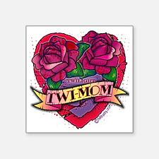 """Twilight Twi-Mom Tattoo Hea Square Sticker 3"""" x 3"""""""