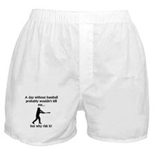 A Day Without Baseball Boxer Shorts