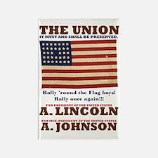 ART Lincoln 1864 Rectangle Magnet