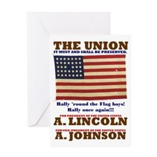ART Lincoln 1864 Greeting Card