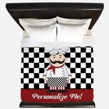 Personalized French Chef King Duvet