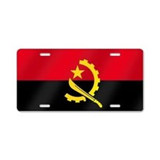 Flag of Angola Aluminum License Plate