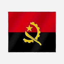 Flag of Angola Throw Blanket