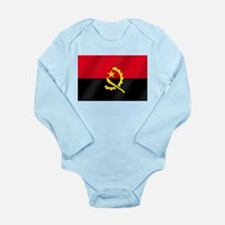 Flag of Angola Long Sleeve Infant Bodysuit