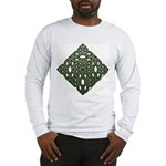 Saint Patricks Shamrock Long Sleeve Tee - Wht/Gry