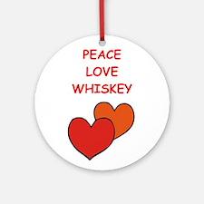 whiskey Ornament (Round)