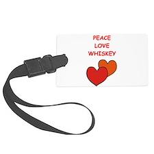 whiskey Luggage Tag