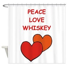 whiskey Shower Curtain