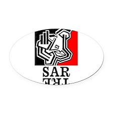 Sartre Philosophy Existentialism Oval Car Magnet