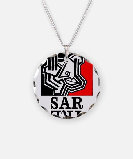 Sartre Philosophy Existentialism Necklace Circle C