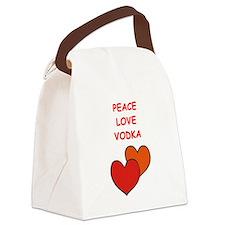 vodka Canvas Lunch Bag