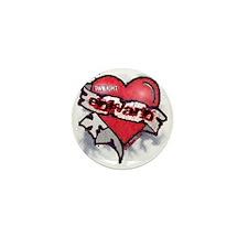 EDWARD TATTOO HEART 2 copy Mini Button