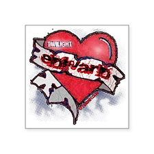 """EDWARD TATTOO HEART 2 copy Square Sticker 3"""" x 3"""""""