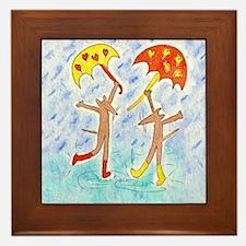 Dancing Rain Mice 10x10 inch Framed Tile