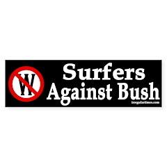 Surfers Against Bush (Bumper Sticker)