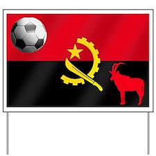 Angolan Football Flag Yard Sign
