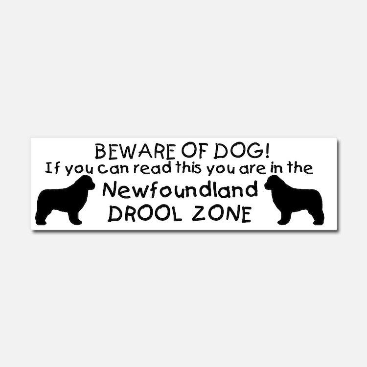 Newfoundland Dog Drool Zone Car Magnet 10 x 3